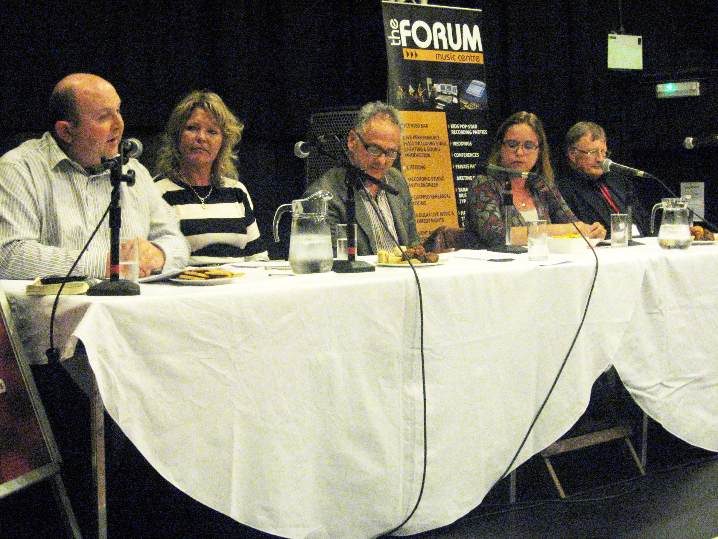 ARTS PANEL: From left: Cllr Nick Wallis, Allison McKay, Peter Barron, Miranda Thai