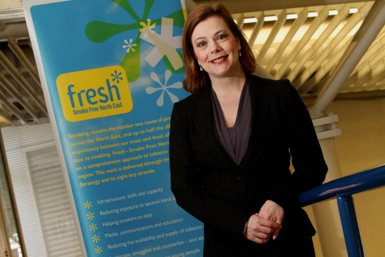HEALTHY PROGRESS: Ailsa Rutter, director of Fresh, the North-East tobacco control office