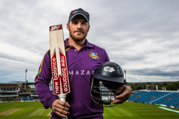 ON THE ATTACK: Batsman Aaron Finch