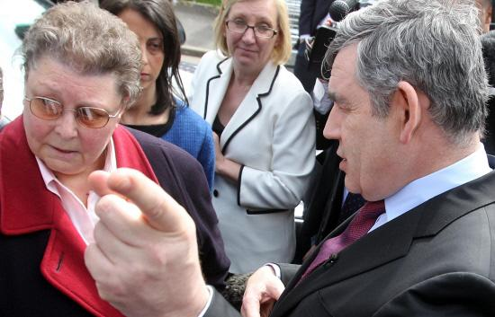 In the run up to the 2010 election, Prime Minister Gordon Brown was overheard calling Gillian Duffy a