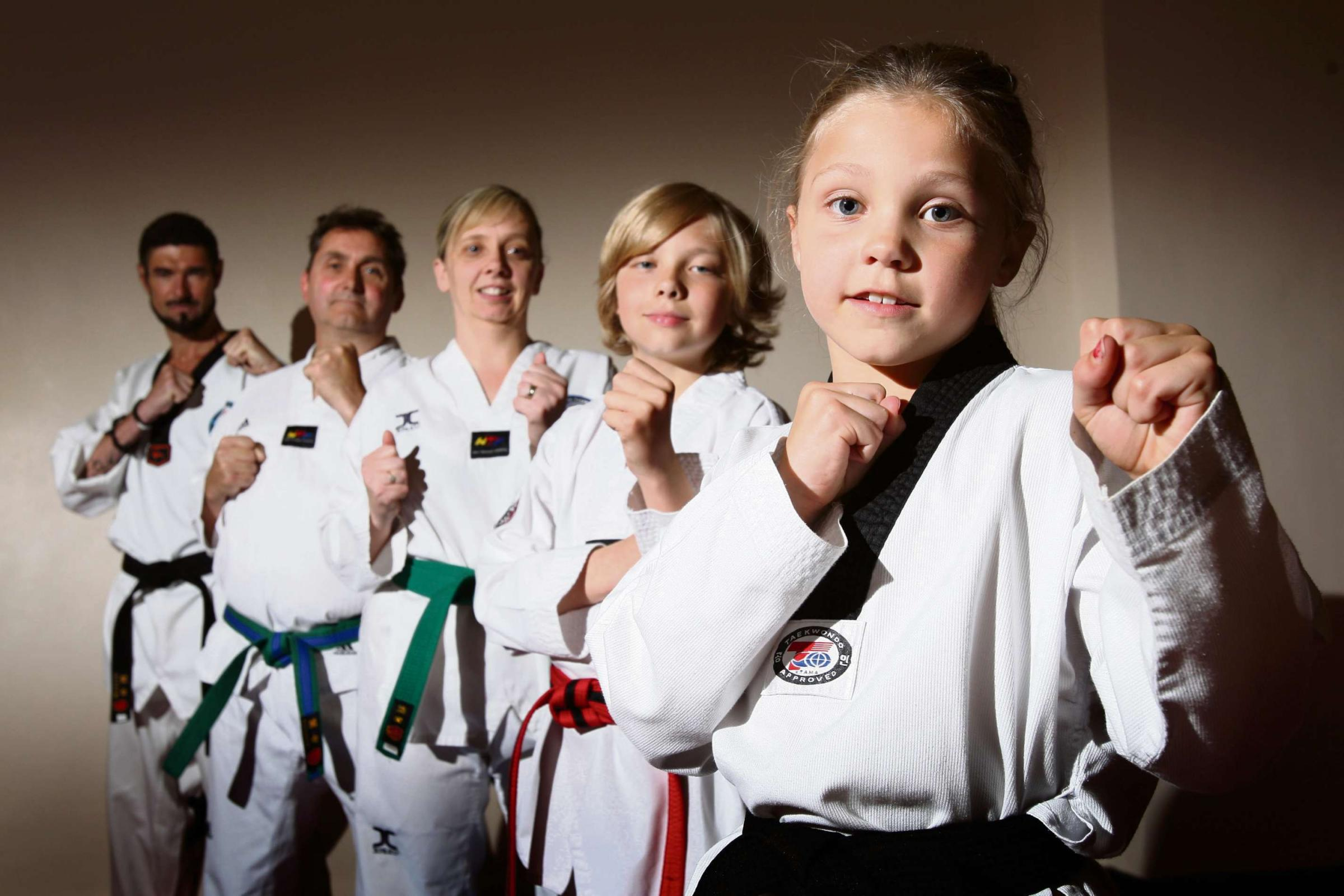 Youngster celebrates achieving Spennymoor taekwondo black belt aged just seven-years