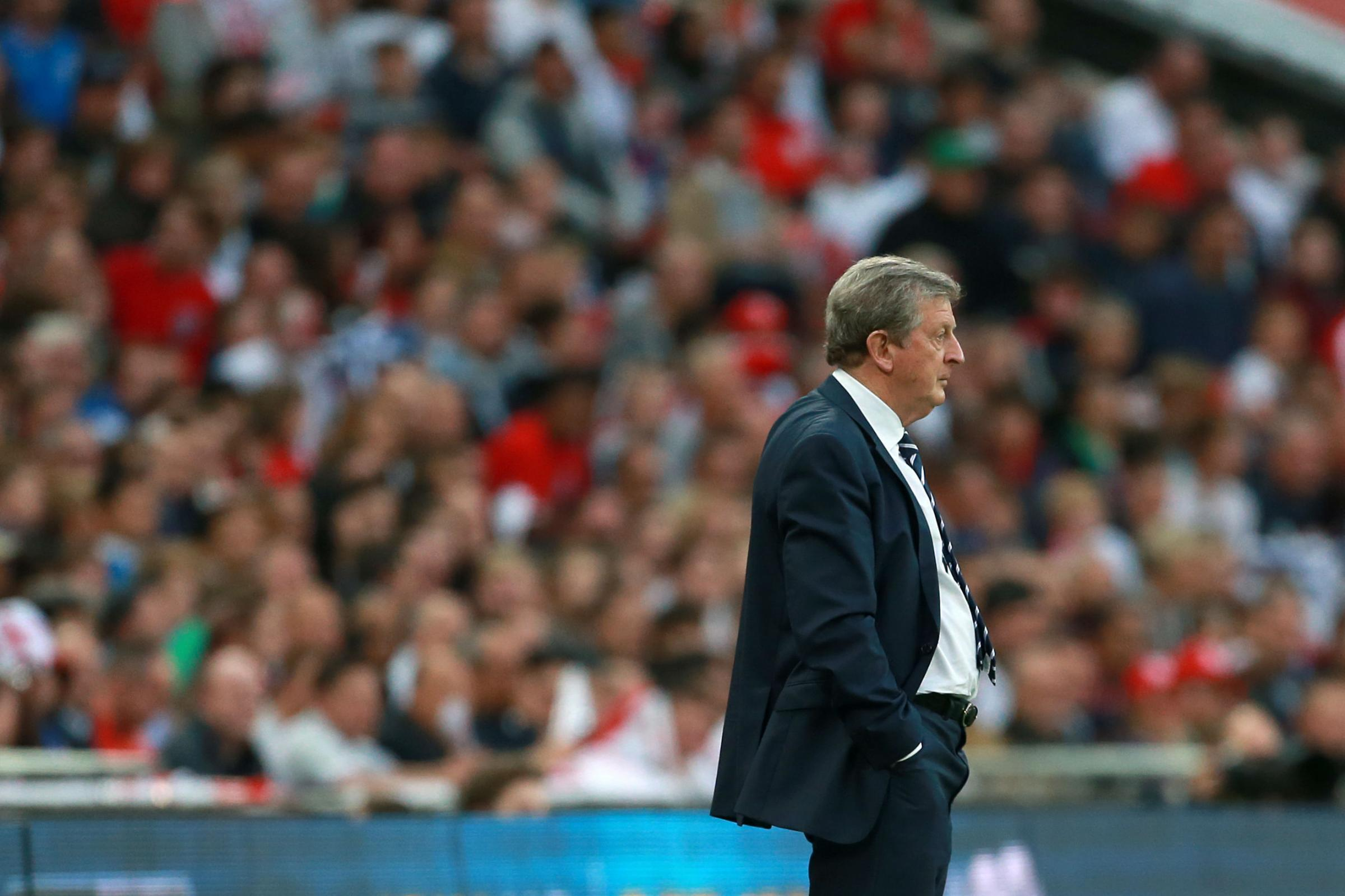 SATISFIED: Roy Hodgson was a happy man as his England side beat Peru 3-0 in their opening World Cup warm-up game
