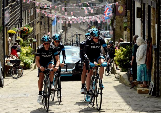 READY TO GO: Richie Porte (left) joined Chris Froome (right) for a training ride in Yorkshire ahead of this weekend's start of the Tour de France