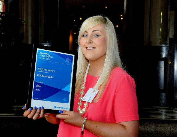 Chelsea Keedy was named star apprentice at the learndirect Inspiration Awards