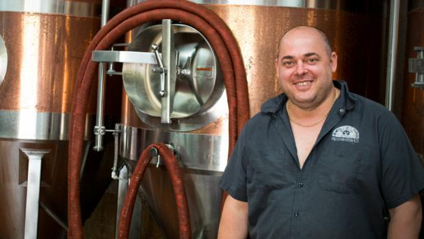 ENTERPRISE CASH: Phil Lee of the Great Yorkshire Brewery  which expanded after receiving a grant