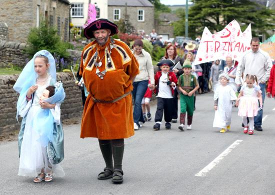 Last year's carnival procession through Cotherstone