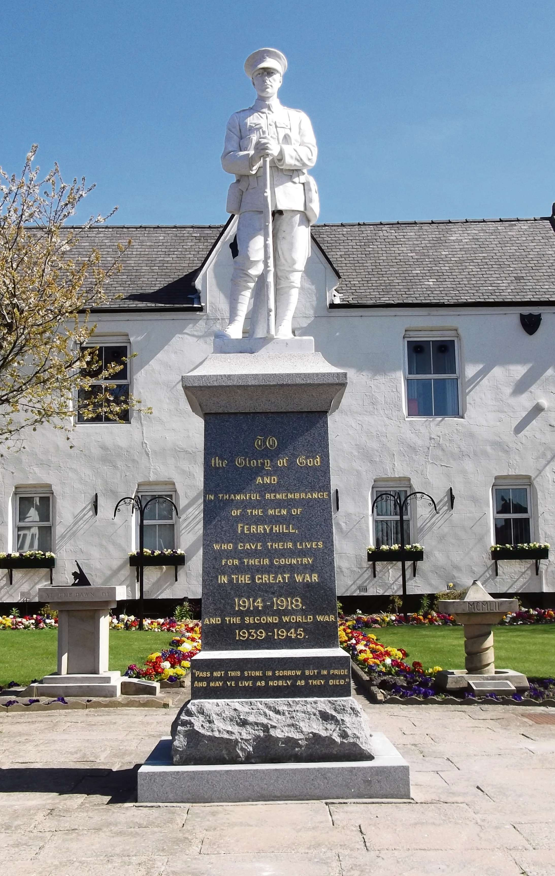 FRESH LOOK: The revamped war memorial at Ferryhill