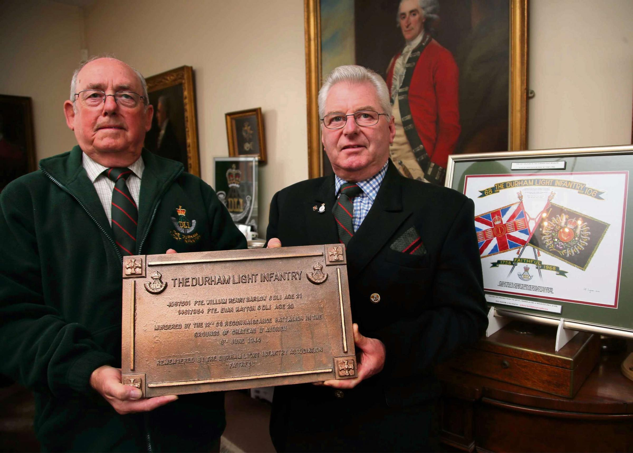 Murdered Durham Light Infantry soldiers honoured with new plaque