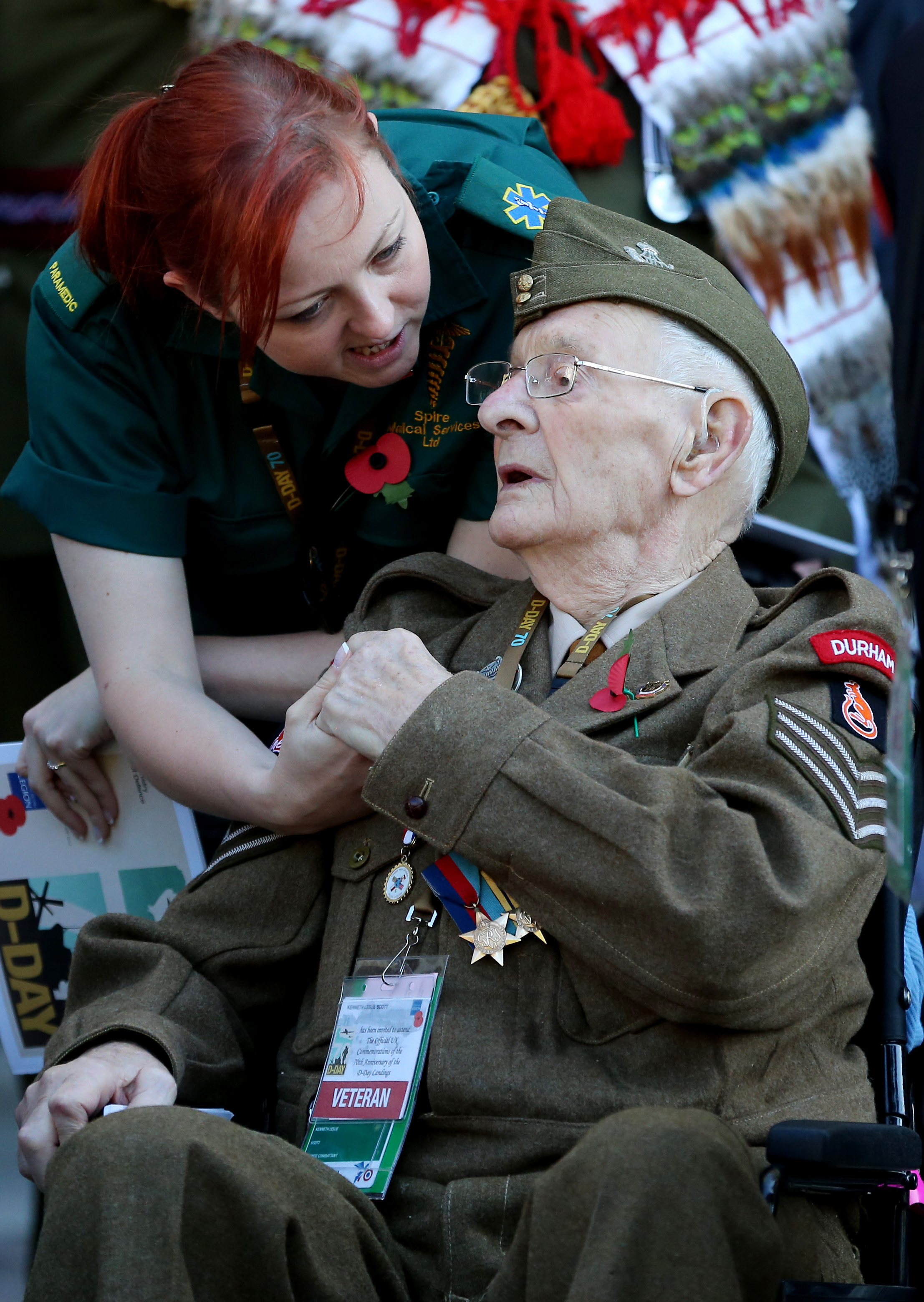 D-Day veterans return to the beaches of France to pay tribute to their fallen comrades