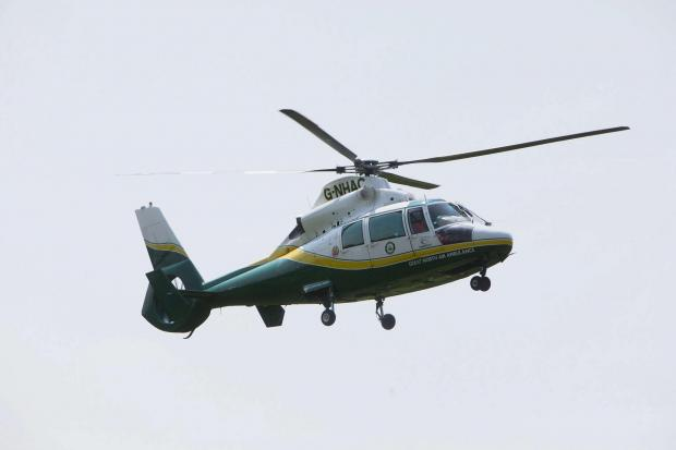 FUNDS RAISED: A Great North Air Ambulance helicopter in flight