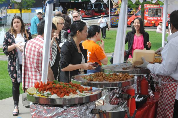 The Northern Echo: Middlesbrough Mela 2nd day Sunday 8th June in Centre Square.  Pic by Doug Moody Photography