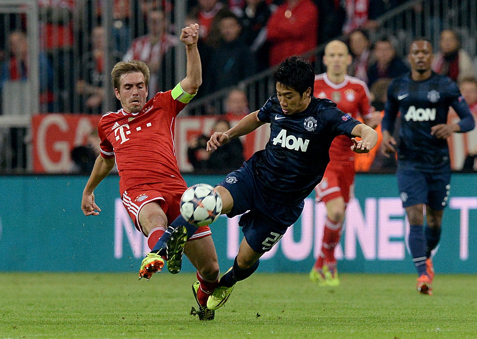 STAR MAN: Phillip Lahm, left