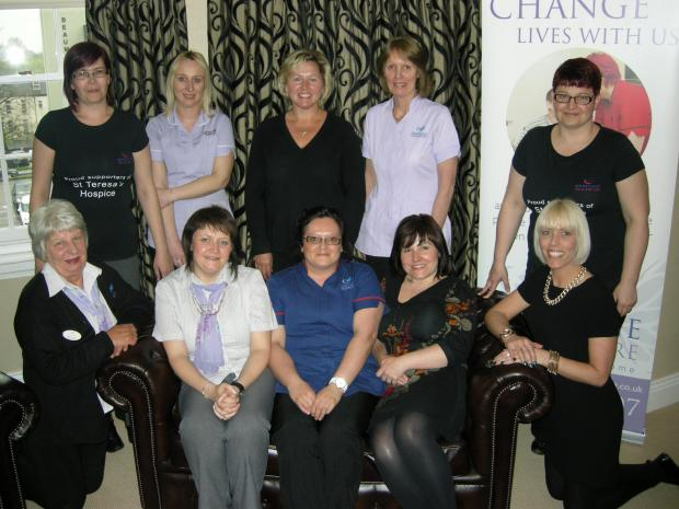 A team of ladies from Heritage Healthcare services provider are among those taking part in the Midnight Walk
