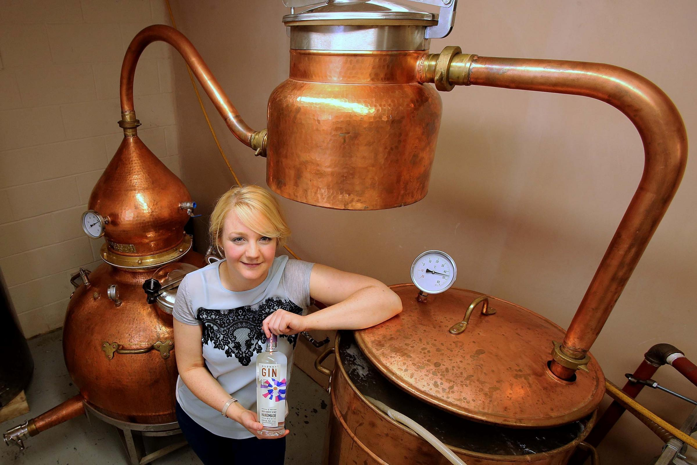Cheers! Gin-maker Jess is toasting success