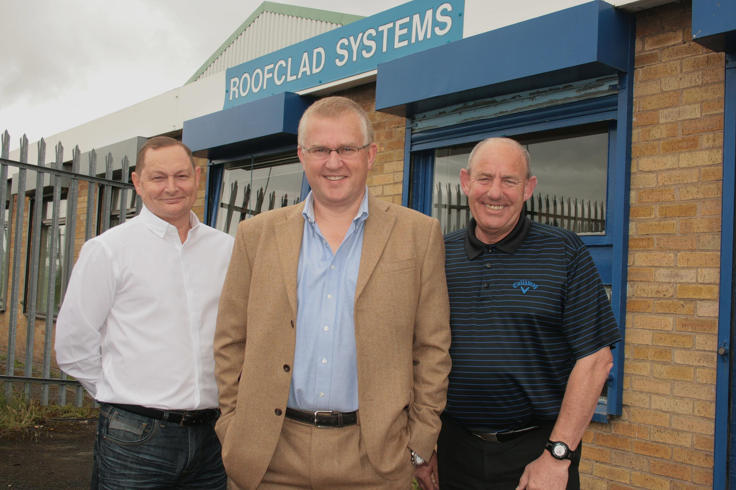BUSINESS DEAL: Pictured from left to right are Phil Allison, operations director, Dave Tilley and Stewart Openshaw