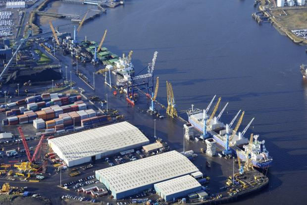 BIG LIFT: The Port of Tyne has revealed strong results