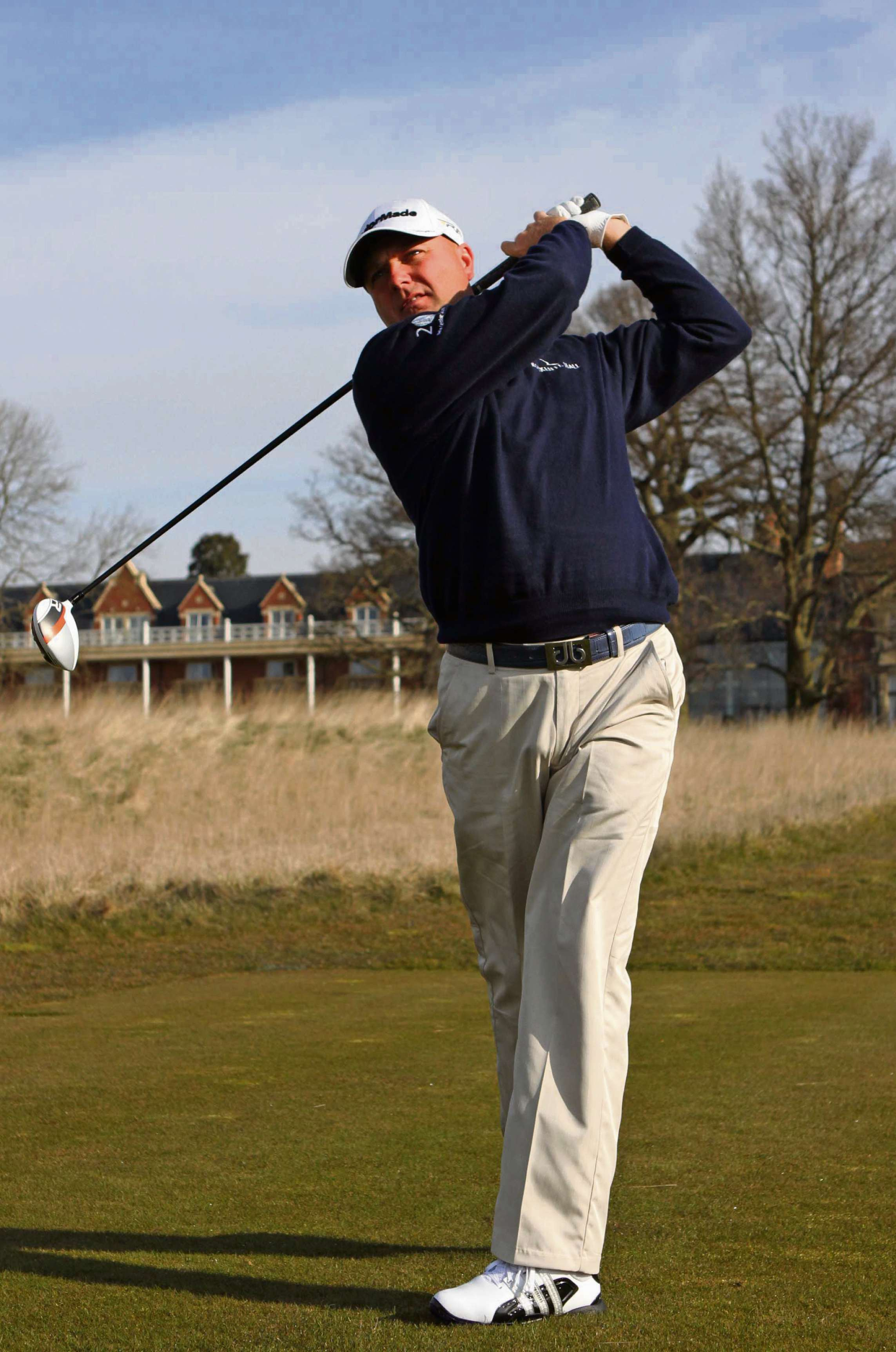 Gone to America: Graeme Storm teed off at Rockliffe Hall on Friday before heading off to Pinehurst (7053382)