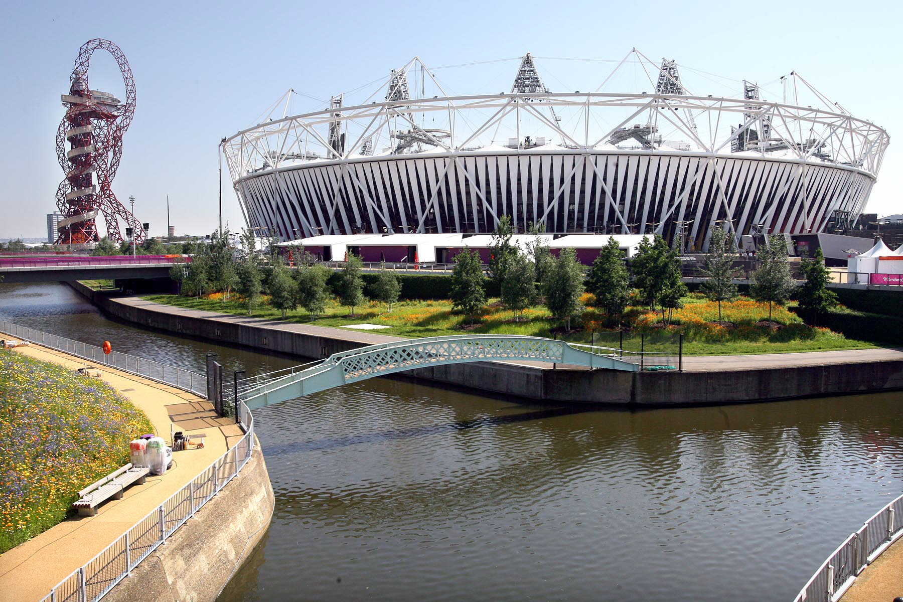 PAST WORK: The Olympic Park, in London, pictured ahead of the 2012 sporting spectacle