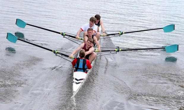 The Northern Echo: OARS AWAY: Crews practising for this weekends annual Durham Regatta. Picture: DAVID WOOD
