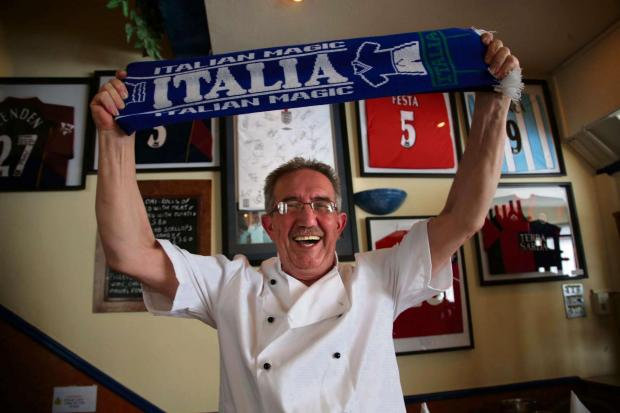 CHEF SPECIAL: Francesco Obinu from Sardis in Darlington who will be cheering on Italy