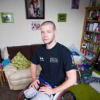 The Northern Echo: PASSPORT FEARS: Former soldier Gaz Golightly in his home in Hartlepool.