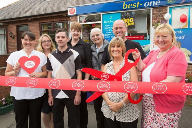 POSTMAN PAT: MP Pat Glass reopens the new-look post office in Ebchester