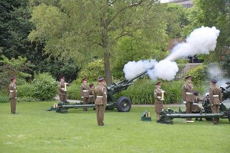 QUEEN'S BIRTHDAY: The 21-gun salute in York. Picture by Sgt Brian Gamble RLC
