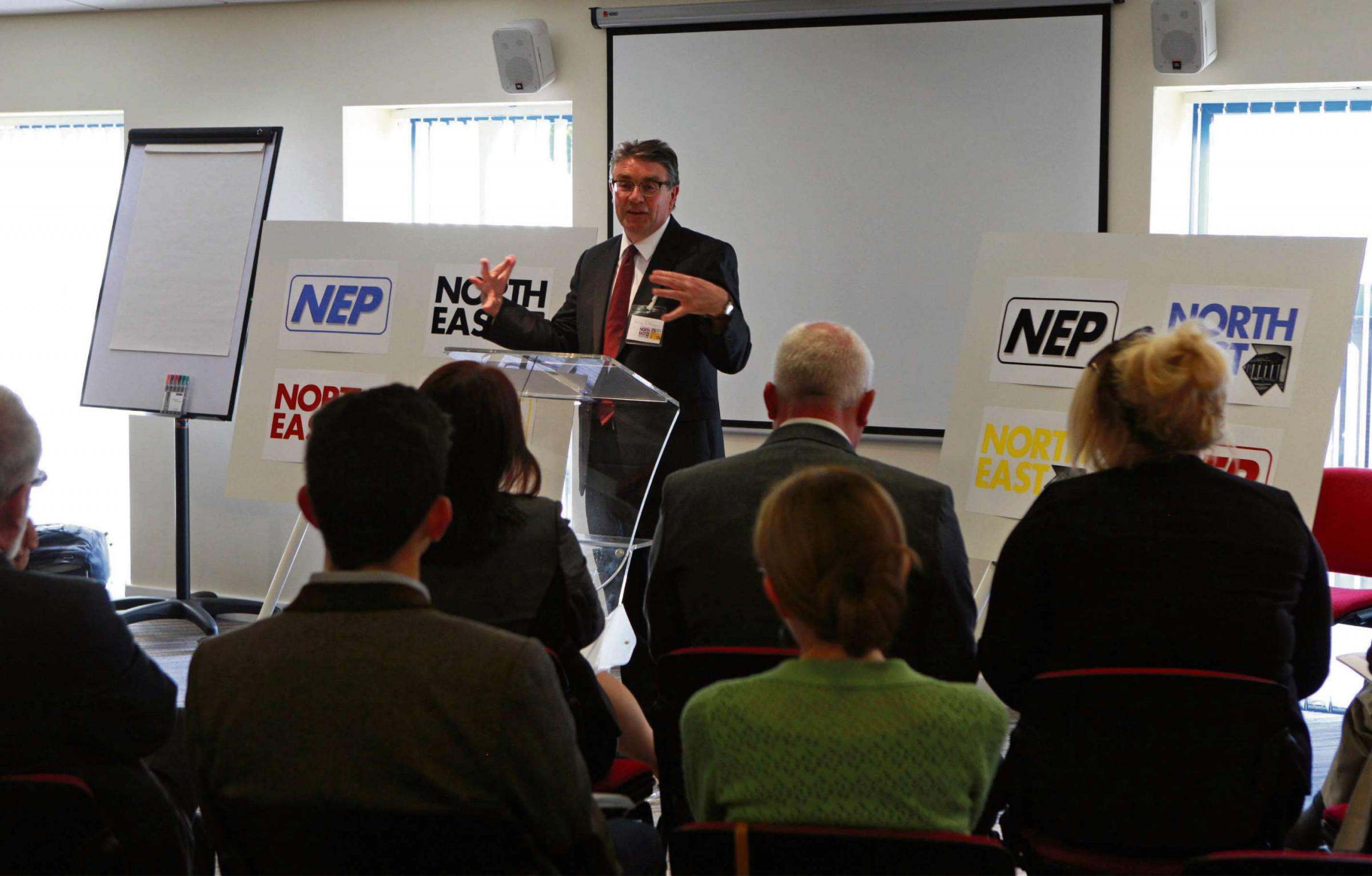 NORTH EAST TALKS: Hilton Dawson talks at the First gathering of new North-East Party. Picture:SARAH CALDECOTT