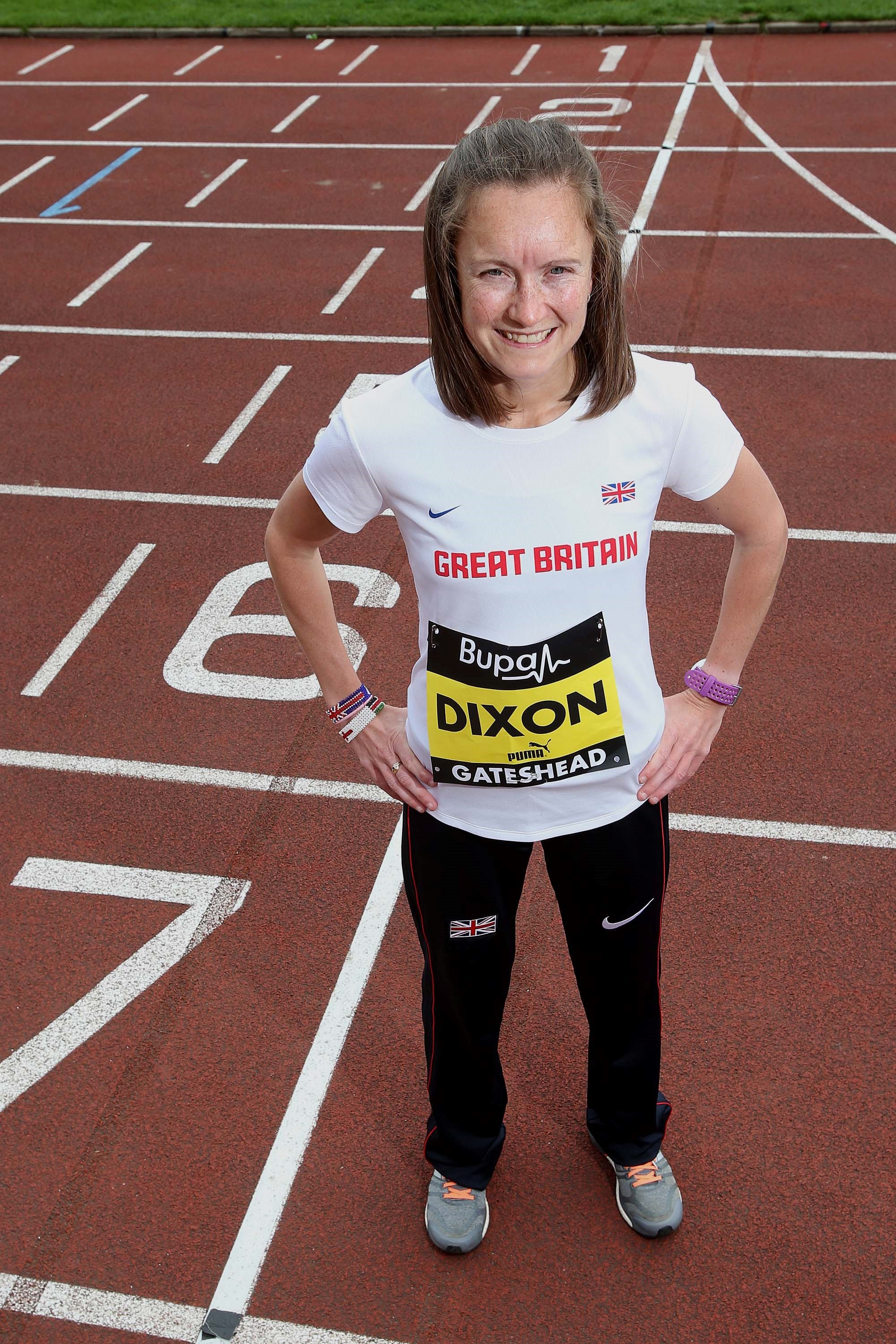 EXTENDED JOURNEY: Alyson Dixon will warm up for Sunday's Bupa Great North 10k by running to the start from her home in Sunderland