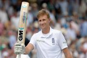 IN FORM: England's Joe Root celebrates scoring 200 not out