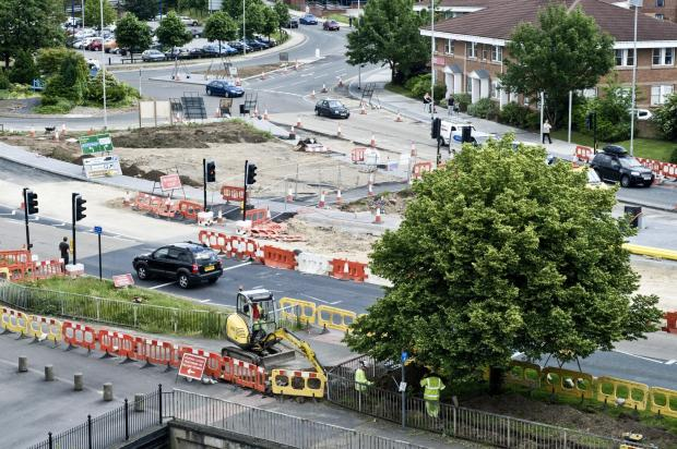 Traders have said disruptive roadworks are driving shoppers out of their town