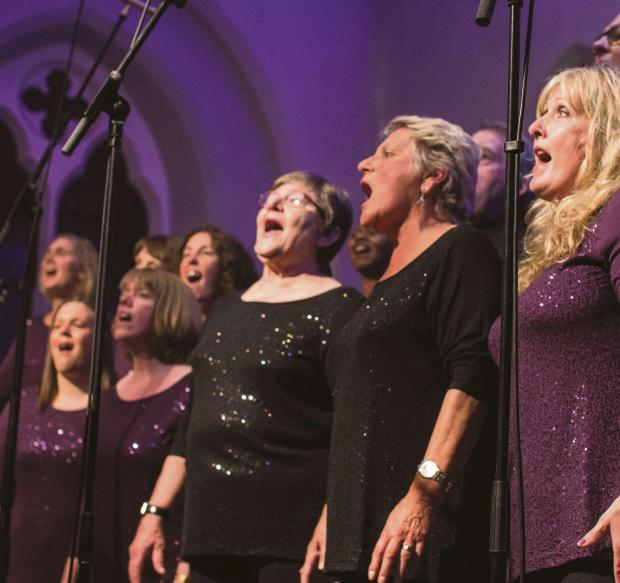 IN HARMONY: Members of the Lakes Gospel Choir in concert