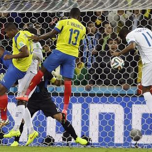 The Northern Echo: Ecuador's Enner Valencia heads home the winning goal (AP)