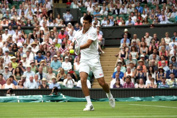 The Northern Echo: Centre Court: Novak Djokovic