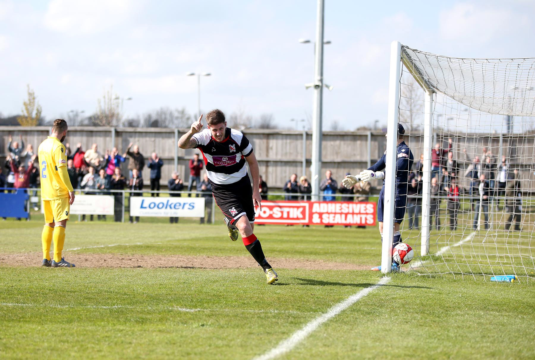 The match will take place at Darlington's temporary home ground, Heritage Park, in Bishop Auckland