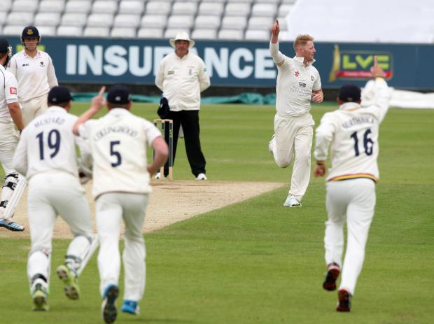 TOP PERFORMER: Durham's Ben Stokes has three second innings wickets to his nam