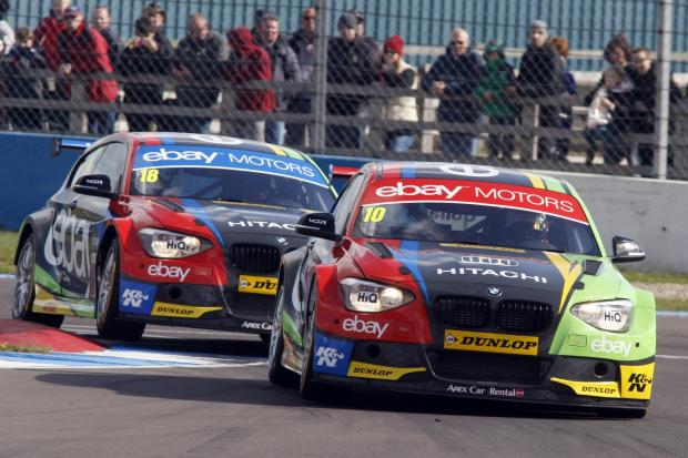 GRIPPING ACTION: Dunlop tyres in use during the MSA British Touring Car Championship