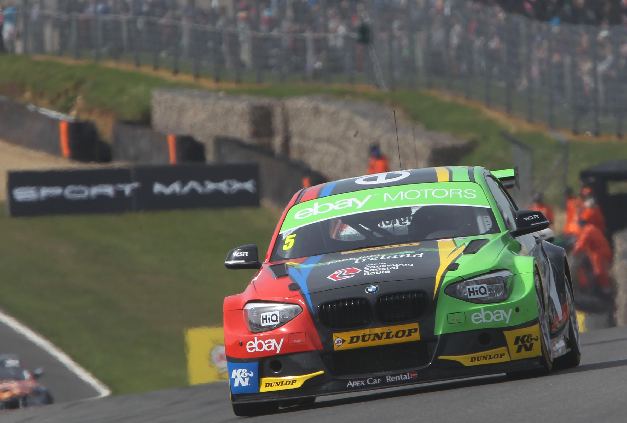 SETTING THE PACE: Colin Turkington in action. Picture: JAKOB EBREY