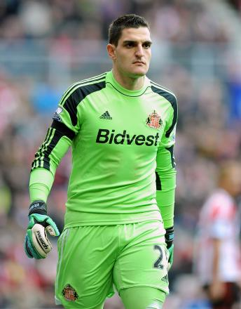 NUMBER ONE: Vito Mannone claims to have been assured that he will remain Sunderland's number one goalkeeper despite the arrival of Costel Pantilimon