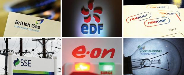 FRESH INVESTIGATION: The Big Six energy companies British Gas, EDF, RWE, Npower, SSE, Eon and Scottish Power face an investigation