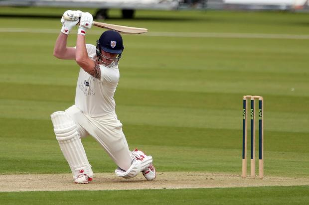 The Northern Echo: Day 1 of County Championship between Durham and Sussex.  Durham's Ben Stokes hits out.  Picture: CHRIS BOOTH (7390335)
