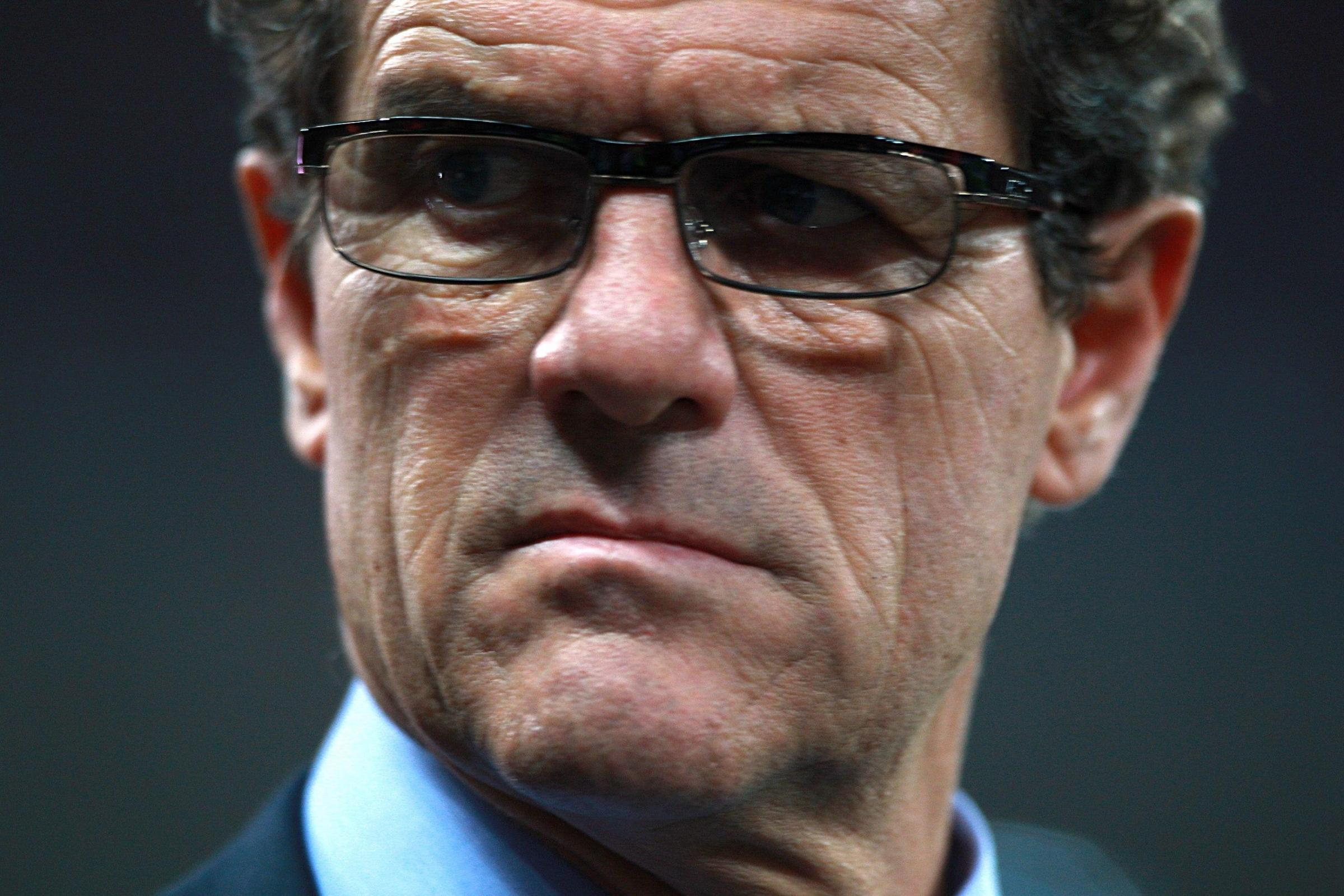 BAD DAY: Fabio Capello's Russia are out of the World Cup