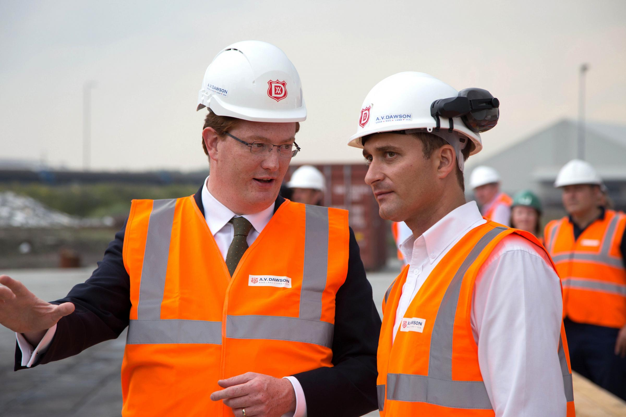 'PLEASING INVESTMENT': Danny Alexander, Treasury Chief Secretary, has hailed business investment. He is pictured with Gary Dawson, managing director of Middlesbrough distribution firm AV Dawson, during a visit to the