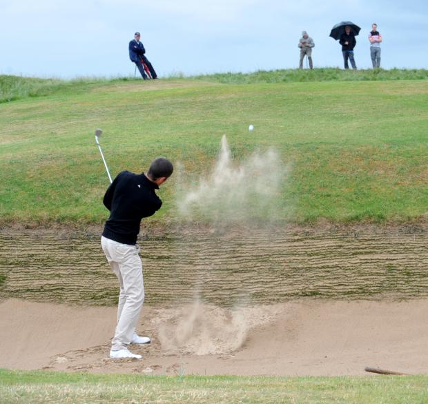 The Northern Echo: High praise: James Simpson in trouble on the 17th hole at Seaton Carew Golf Club which has been praised by the English Golf Union. Picture by Tom Collins.