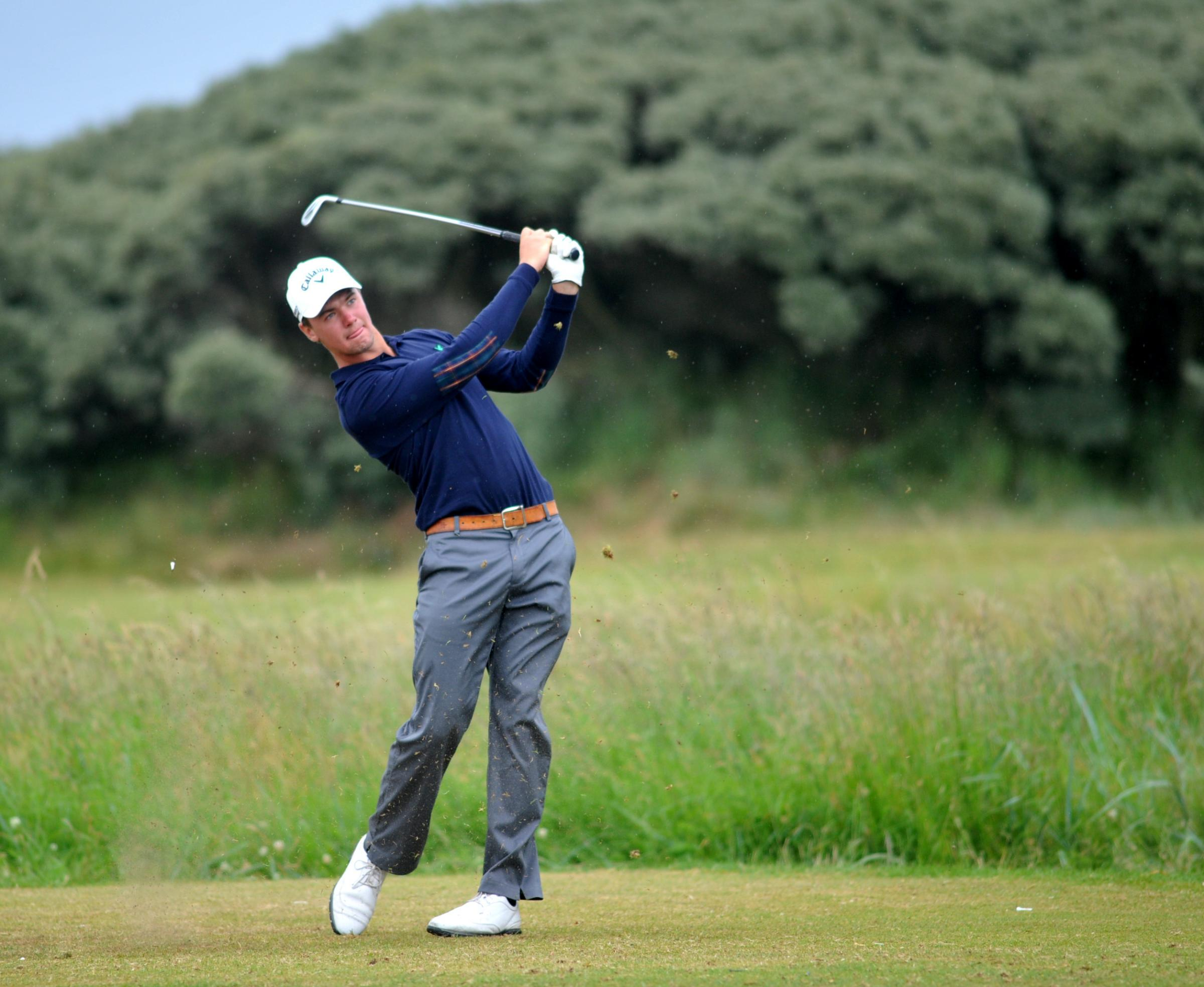 Just champion: Ben Stow on his way to Brabazon Trophy glory at Seaton Carew. Picture: Tom Collins