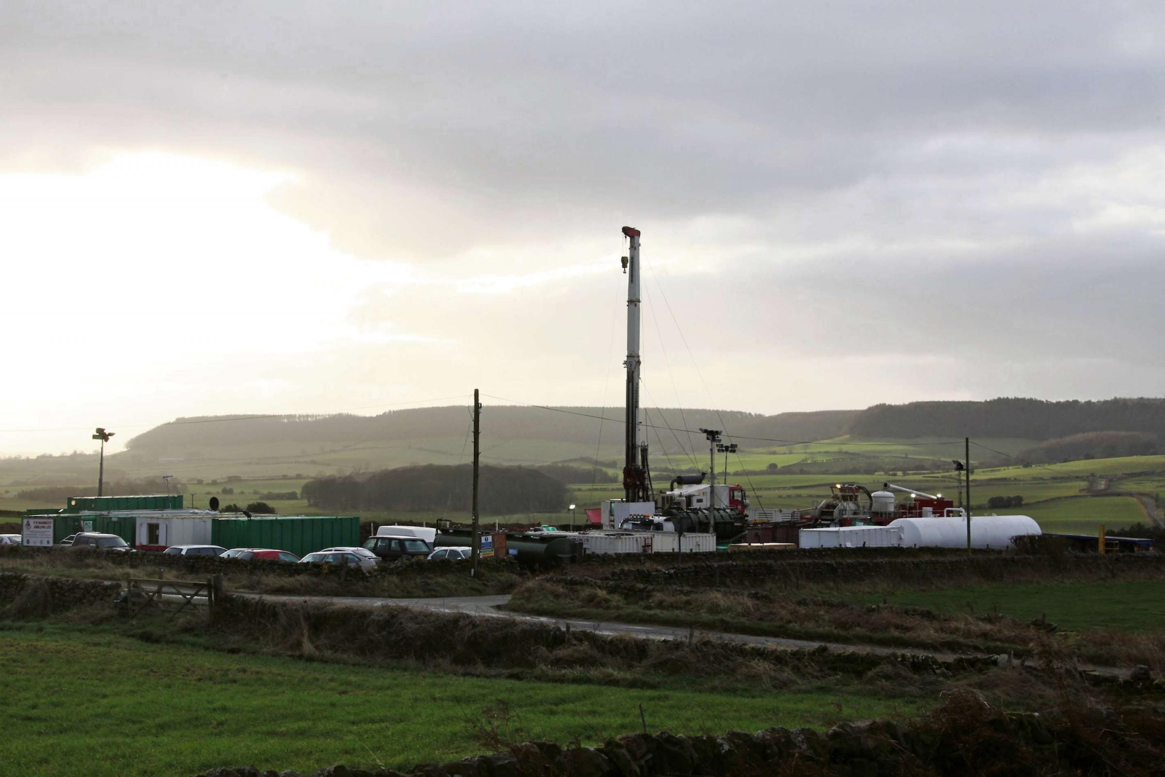 UNDERGROUND PROJECT: A York Potash drilling rig to explore the depth, quality and thickness of the polyhalite underneath the North York Moors