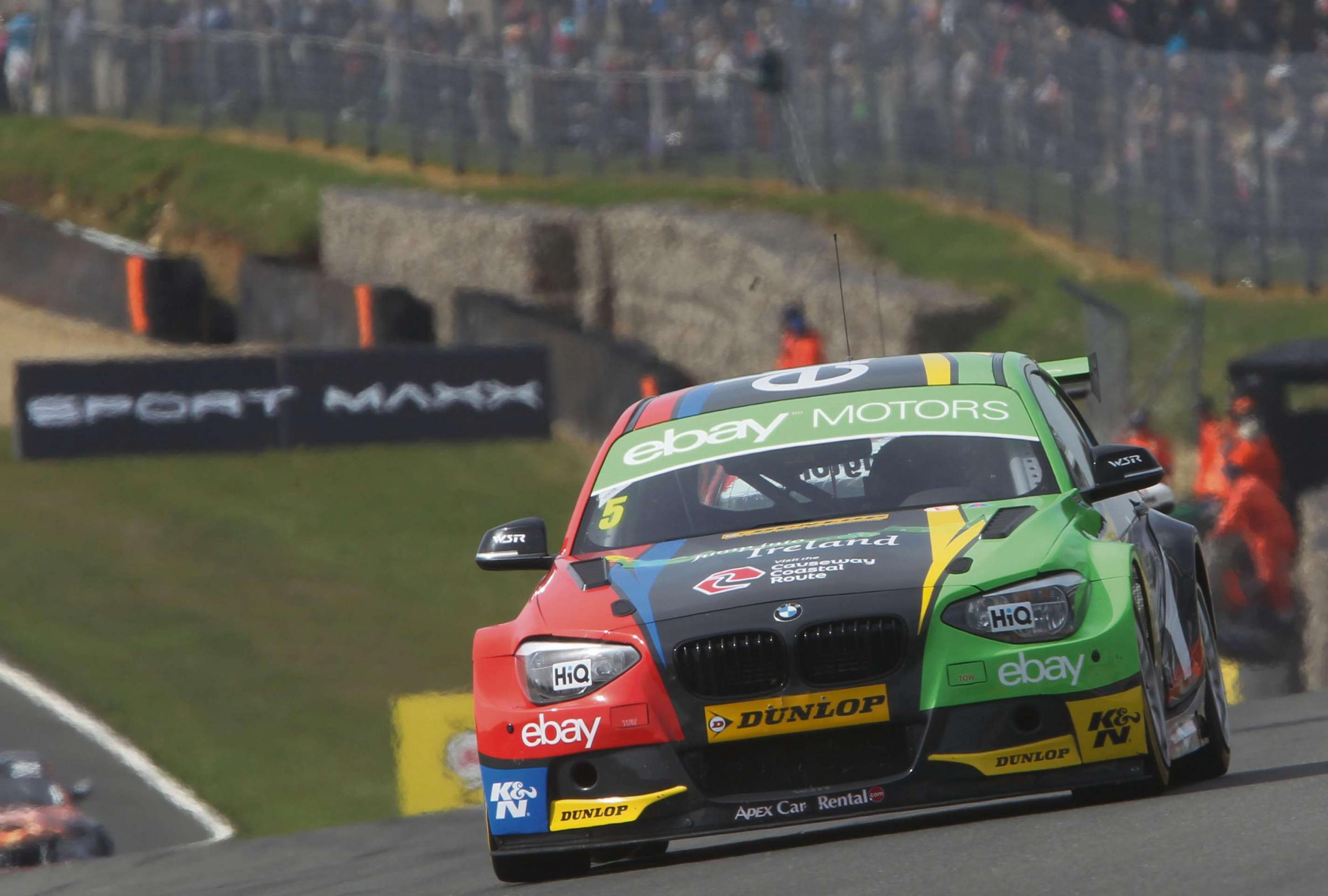 POLE POSITION: Colin Turkington heads to Croft this weekend with a nine-point lead at the top of the BTCC rankings