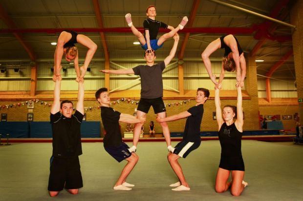 The Northern Echo: PARIS BOUND: Gymnasts from Deerness Gymnastics Academy has eight members competing at the World Acrobatic Gymnastics Championships next week Picture: TOM BANKS