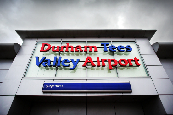 Durham Tees Valley Airport....