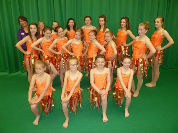 Some of the young dancers who will compete at the National Festival of Fitness, Movement and Dance